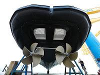 bateau hélices de surface et drives de surface sds