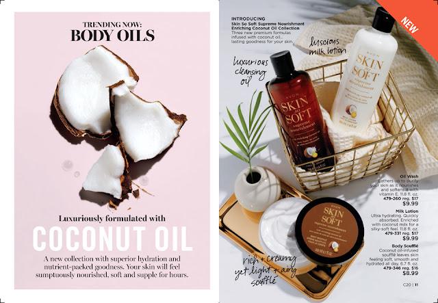 avon catalog 20 2019 Skin So Soft Supreme Nourishment Enriching Coconut Oil Collection