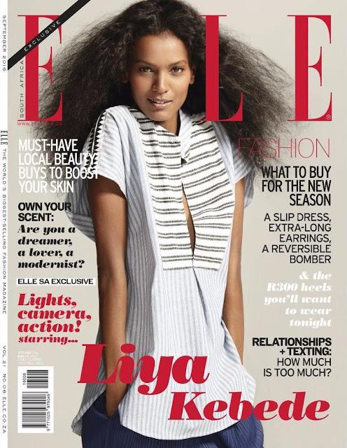 Actress, Model, @ Liya Kebede for Elle South Africa September 2016