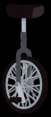 一輪車のイラスト(黒)