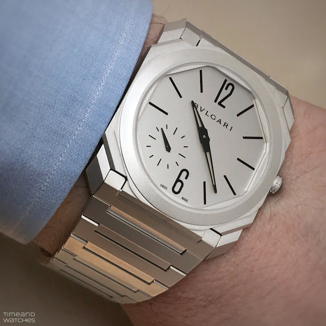 Bulgari Octo Finissimo Automatic Sandblasted, on  the wrist