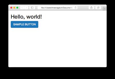 Hasil Menggunakan Bootstrap
