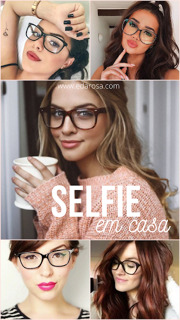 inspirações para fotos usando óculos de grau