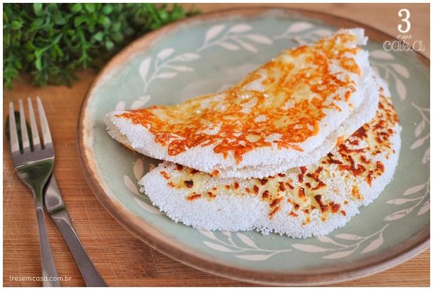 como fazer tapioca rendada