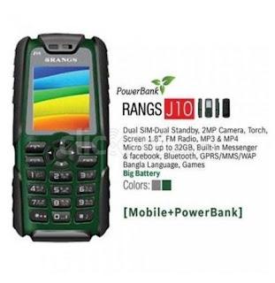 Rangs Mobile J10 Power Bank 6500mah GreenFleetworkers
