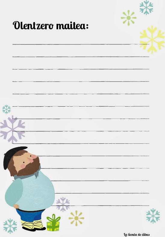 Carta imprimible para olentzero gratis | Dibucos