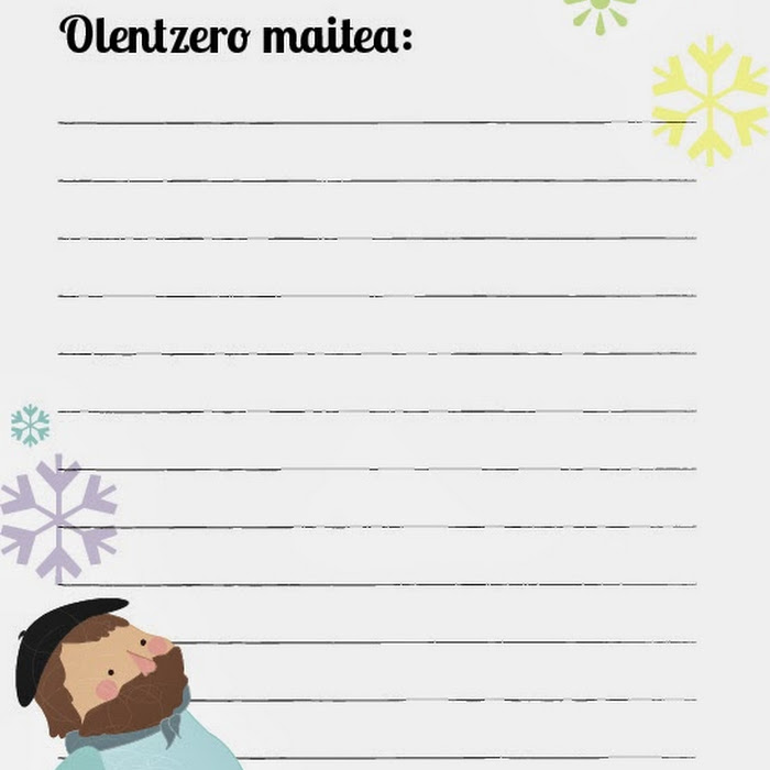 Dibujos De Navidad Del Olentzero.Carta Imprimible Para Olentzero Gratis Dibucos