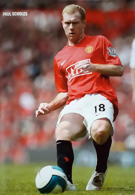 PAUL SCHOLES OF MANCHESTER UNITED
