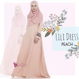Gamis Valisha Lili Dress Peach