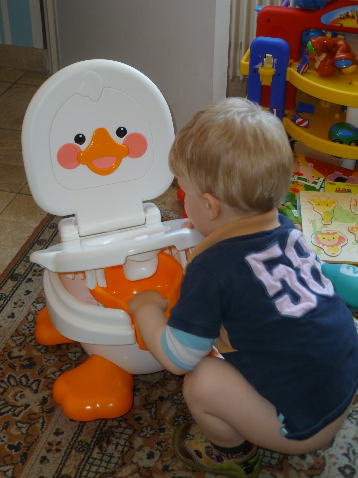 Fisher Price Duck Potty Chair Old People Lift Madhouse Family Reviews Ducky Fun Review
