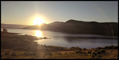 Deer Creek Reservoir Sunrise from the Deer Creek Dam Trail