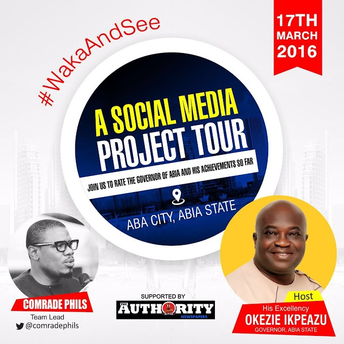 SOCIAL MEDIA PROJECT TOUR TAGGED: WAKA AND SEE (ANNOUNCEMENT)