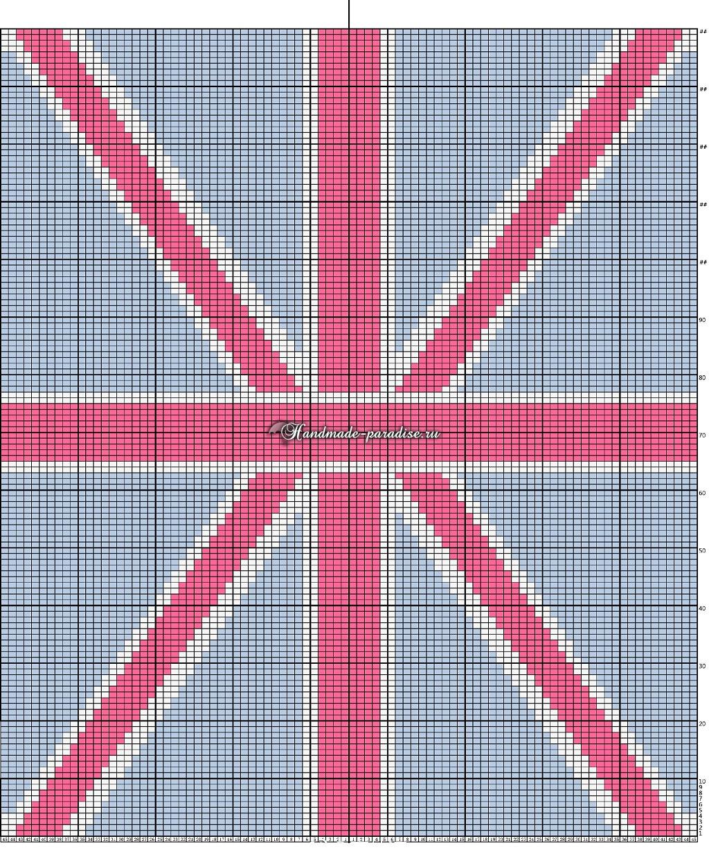 Схема вязания Британский флаг (1)