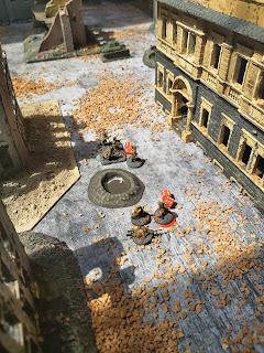 German flamethrowers burn out the defenders