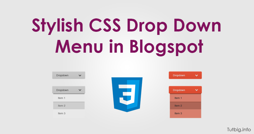 Stylish CSS Drop Down Menu in Blogspot