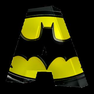 Abecedario 3D del Escudo de Batman. Batman Letters.