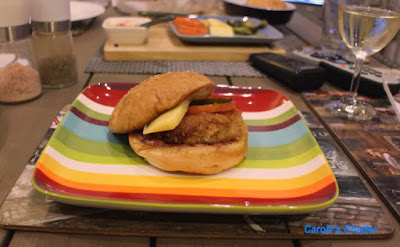 Carole's Chatter: Chicken Burger with Cranberry Mustard Sauce