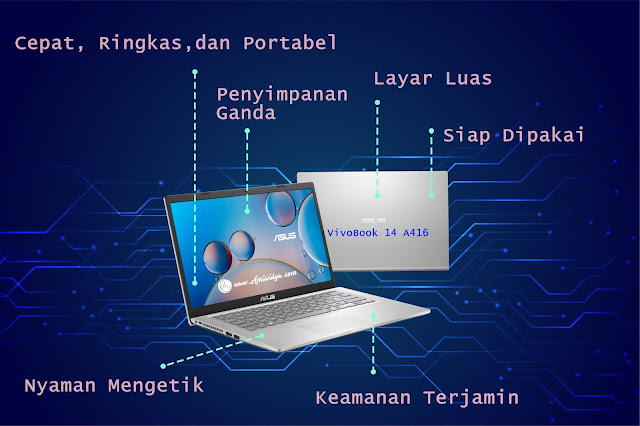 ASUS VivoBook 14 A416 laptop andalan