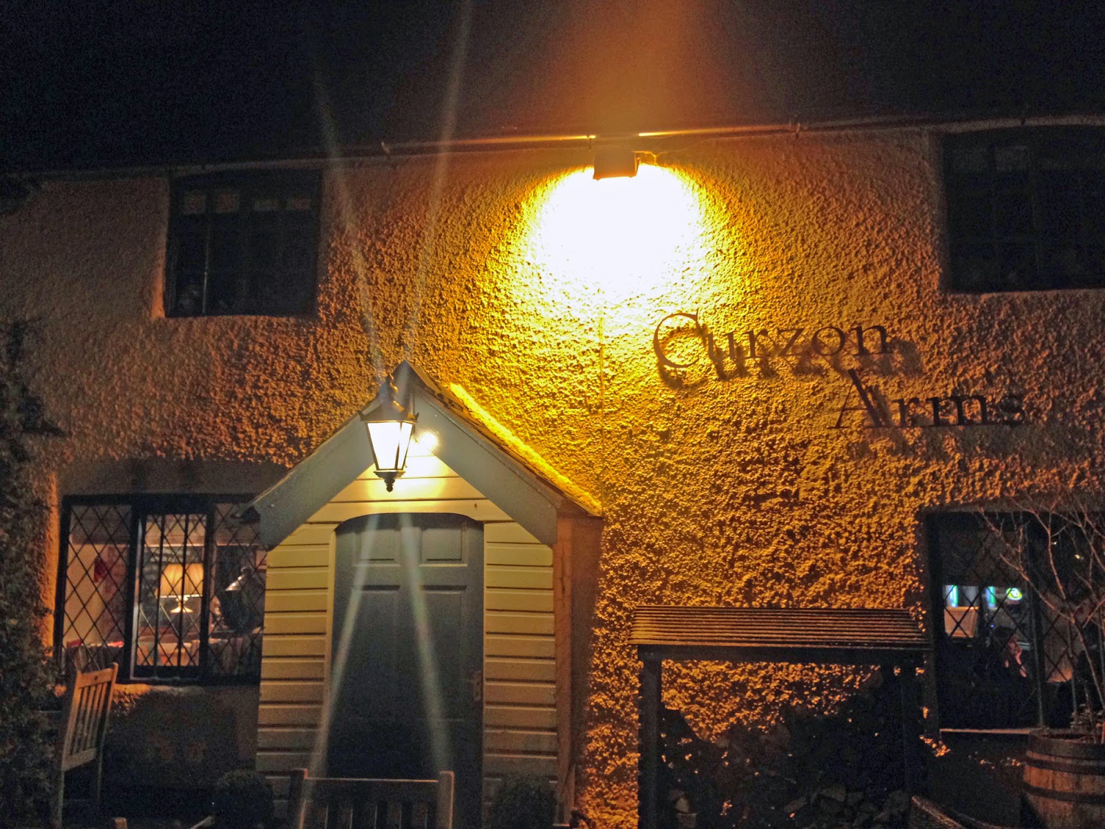 The Curzon Arms at night