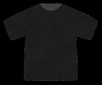 Tシャツのイラスト(黒)