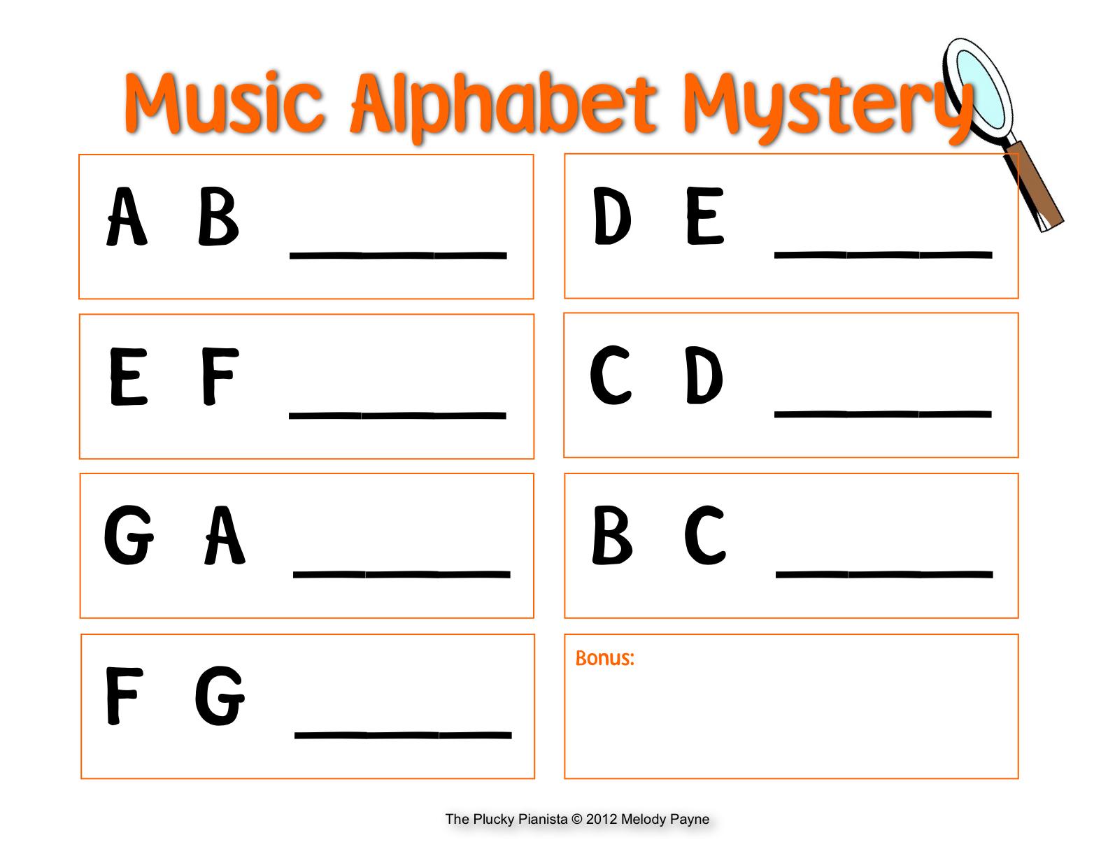 Music Alphabet Mystery