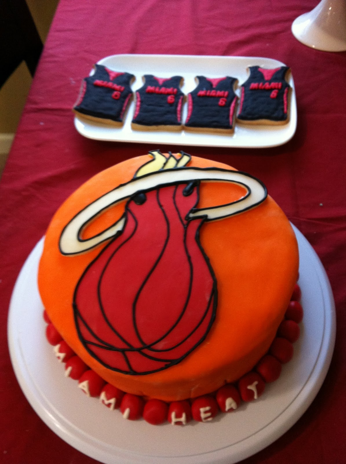 Scrapper By Heart Miami Heat Cake And Cookies