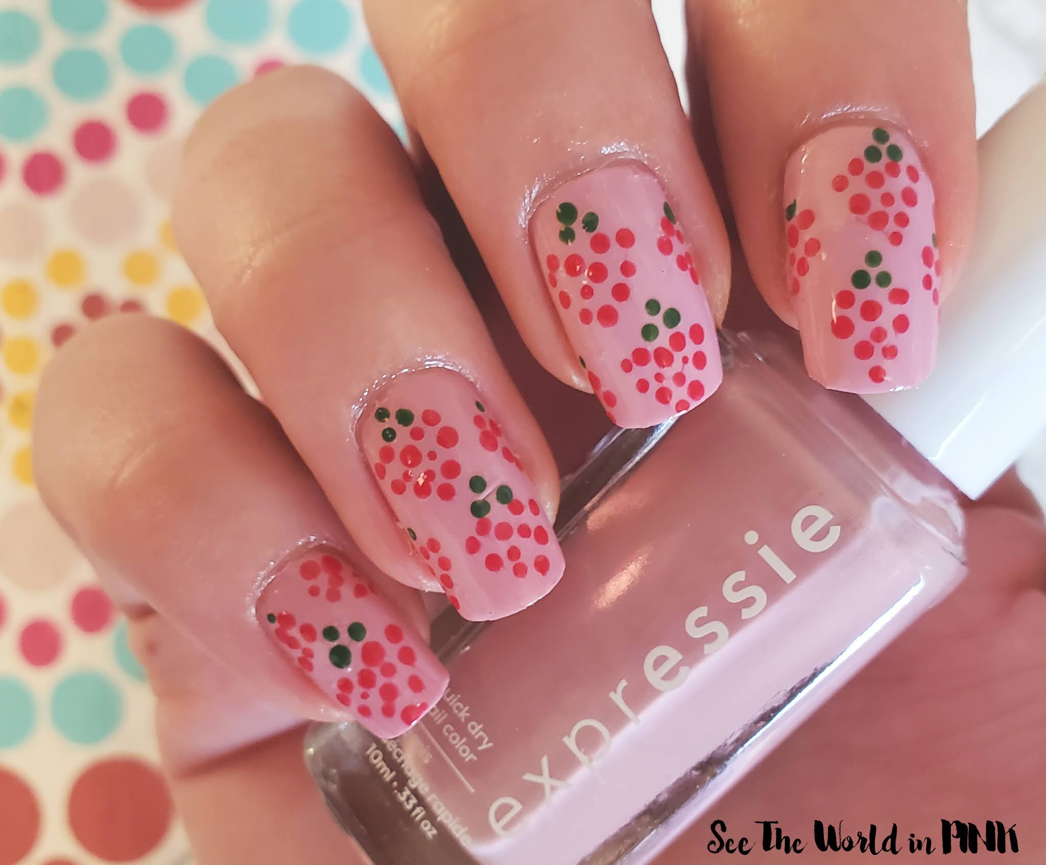 Manicure Tuesday - Heart Berry Nails