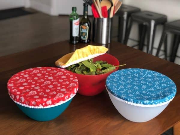 DIY reusable elastic food bowl covers