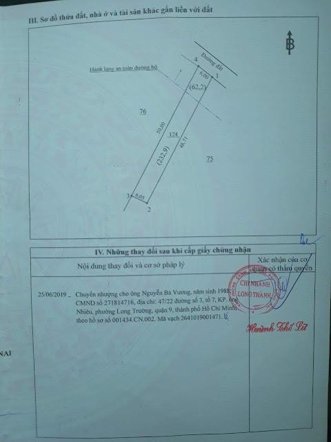 bán gấp bán lỗ đất mặt tiền quốc lộ 51B, 10m ngang , thị trấn Long Thành, Đồng Nai, ngã tư 769 và 51b