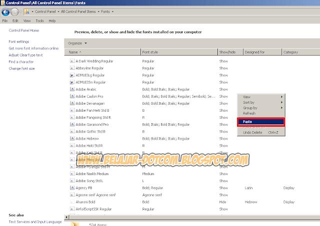 Cara Install Banyak Font Sekaligus di Windows