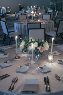 centerpiece with candles in reception