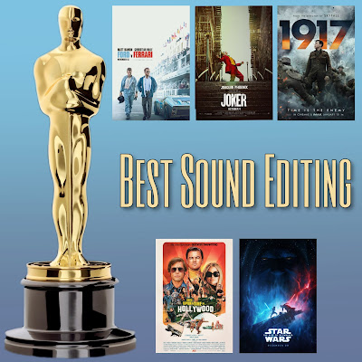 Best Sound Editing Academy Awards nominees Oscars 2020