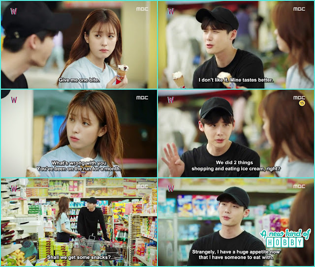 kang chul and yeon joo eat the icecream and go to grocerry shopping  - W - Episode 11 Review