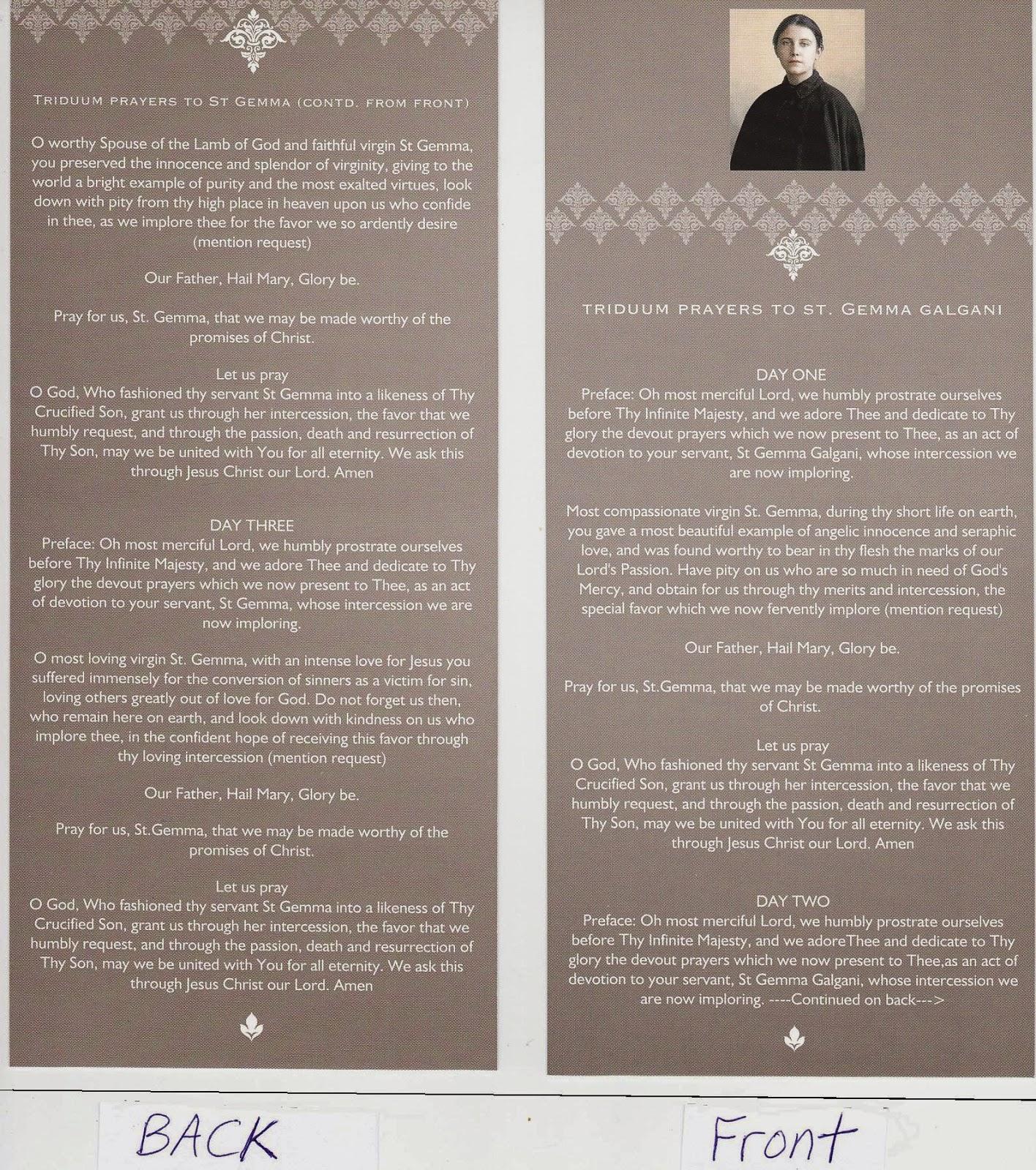 St Gemma Galgani: Prayers and sayings of Saint Gemma Galgani
