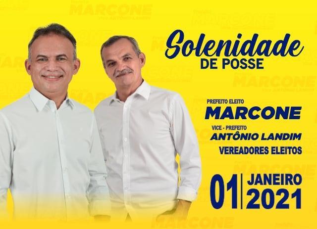 AURORA : Marcone Tavares e Antonio Landim convidam população para acompanhar solenidade de posse que será transmitida virtualmente, devido a pandemia