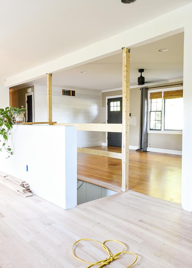 New unstained red oak hardwood floors