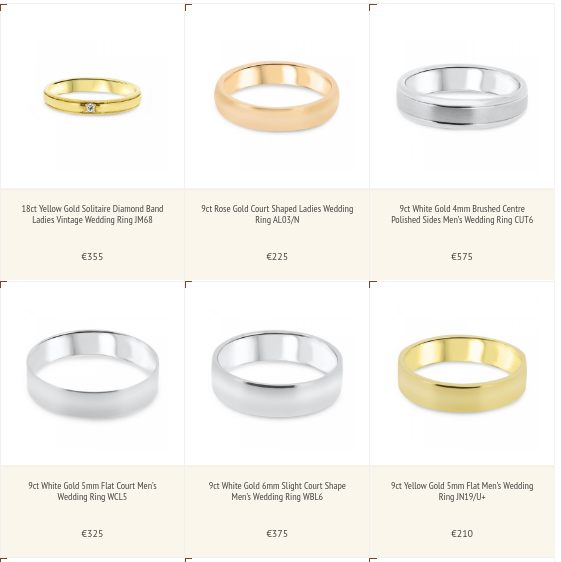 5mm White Gold Wedding Band 85 Superb Selection of Wedding rings