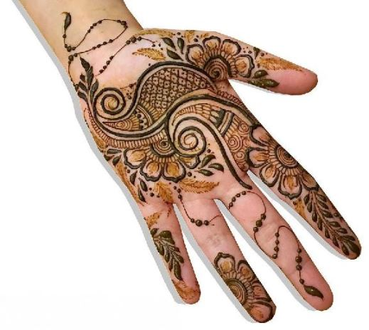 Simple Mehndi Design for front hand