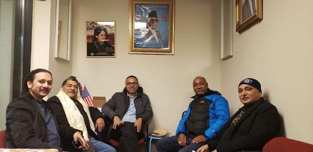 नेविसघंका सस्थांपक केन्द्रीय सदस्य पौडेललाई न्युयोर्कमा स्वागत