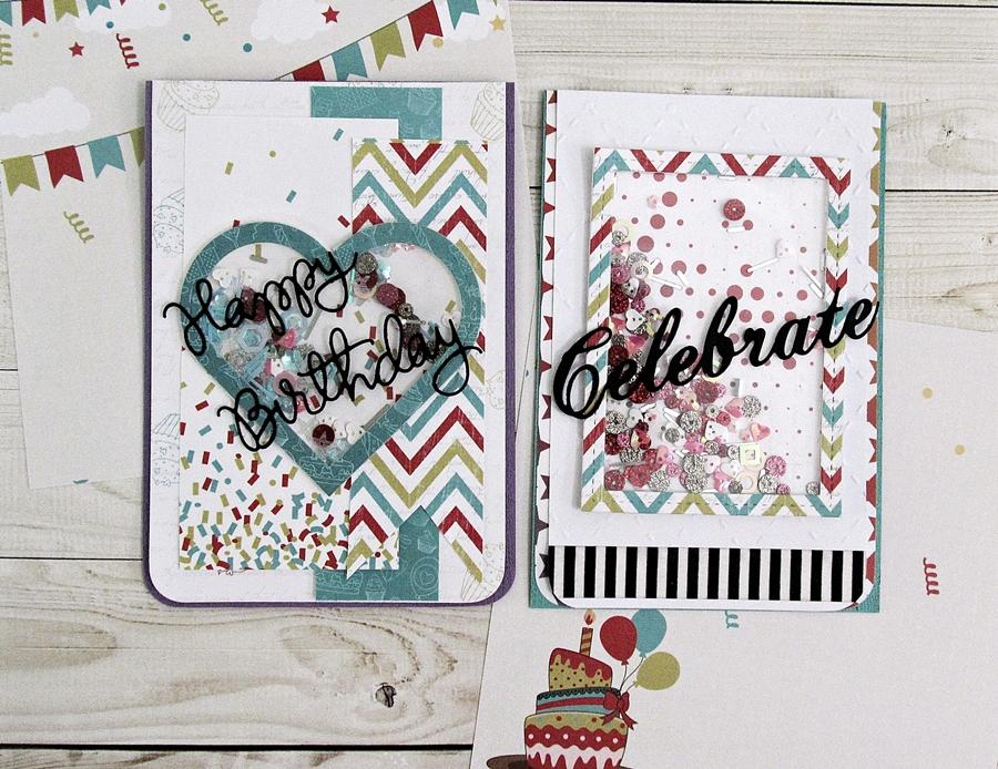 Birthday Shaker Cards