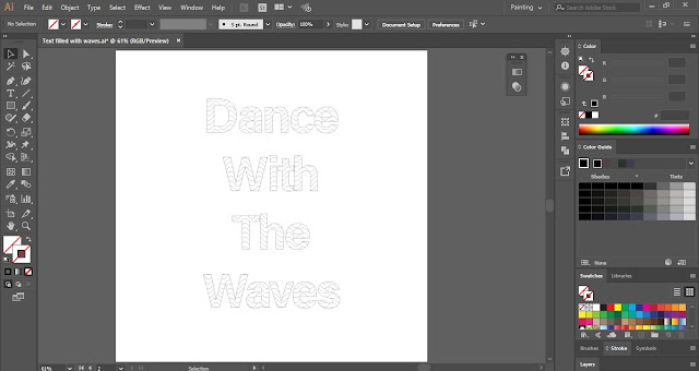 Wavy Line in Illustrator