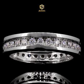 Nhẫn kim cương nam đơn giản, lịch lãm