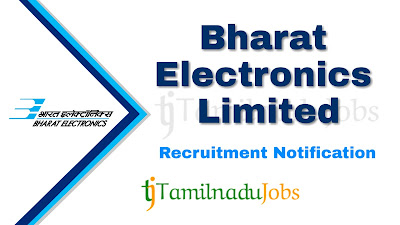 BEL Recruitment notification 2019, govt jobs tamilnadu, central govt jobs, govt jobs for engineers