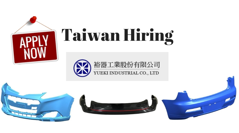 Urgently Hiring: Twenty (20) Male Factory Workers bound to Taiwan