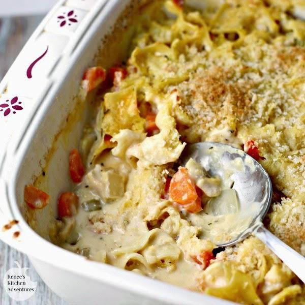 Easy Cheesy Chicken Noodle Casserole | Renee's Kitchen Adventures