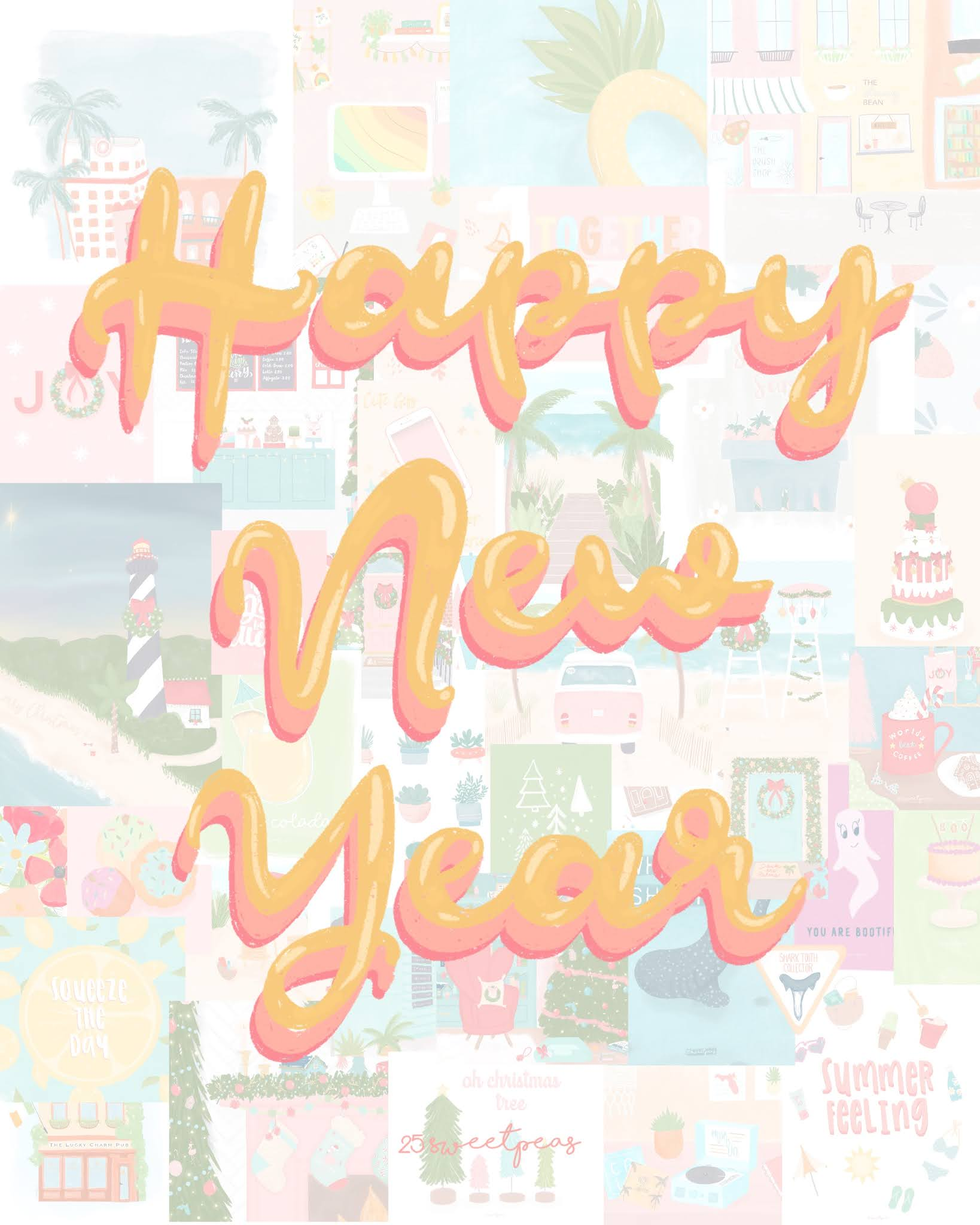25 Sweetpeas 2021 Happy new Year