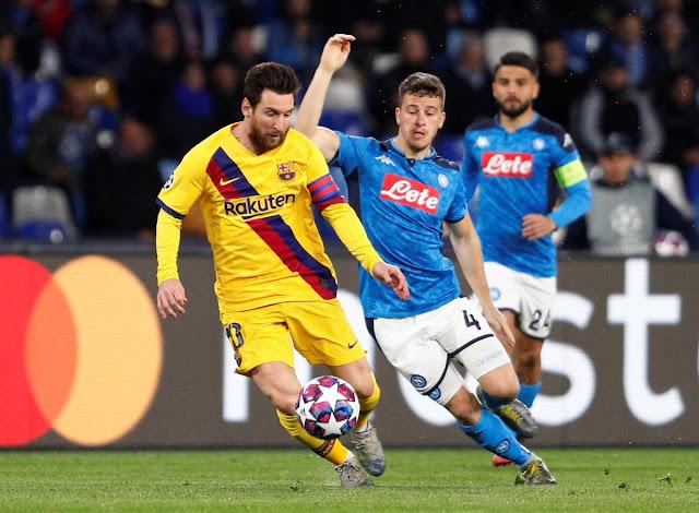 قائمة غيابات برشلونة في مباراة نابولي في إياب دوري أبطال إفريقيا
