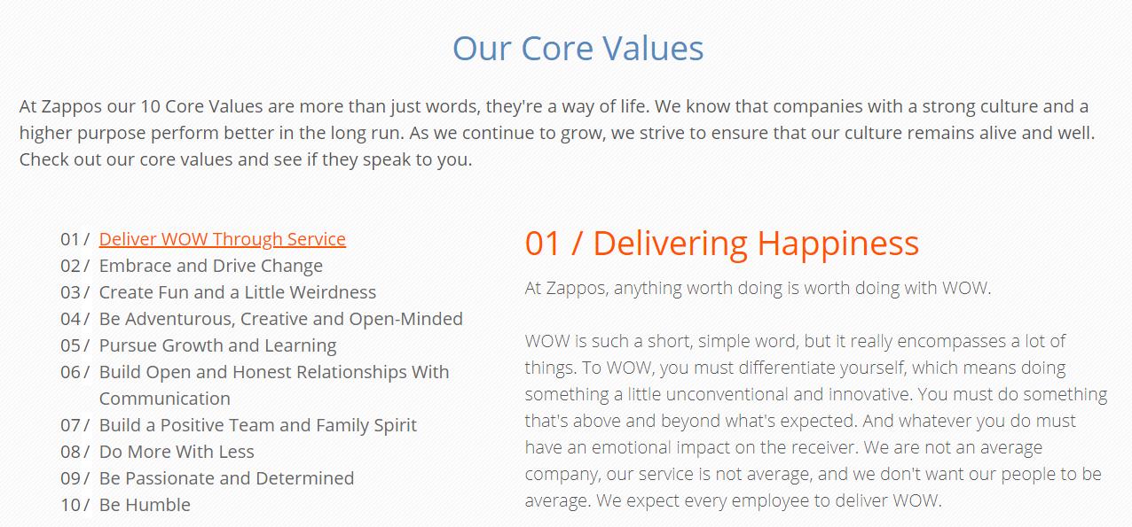 company values, valori organizationale, valori companie