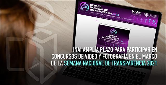 INAI amplía plazo para participar en concursos de video y fotografía