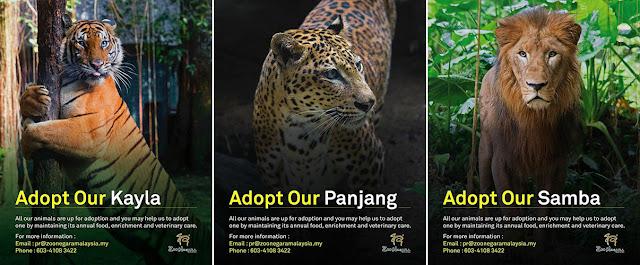 Zoo Negara Lancarkan Kempen Haiwan Angkat